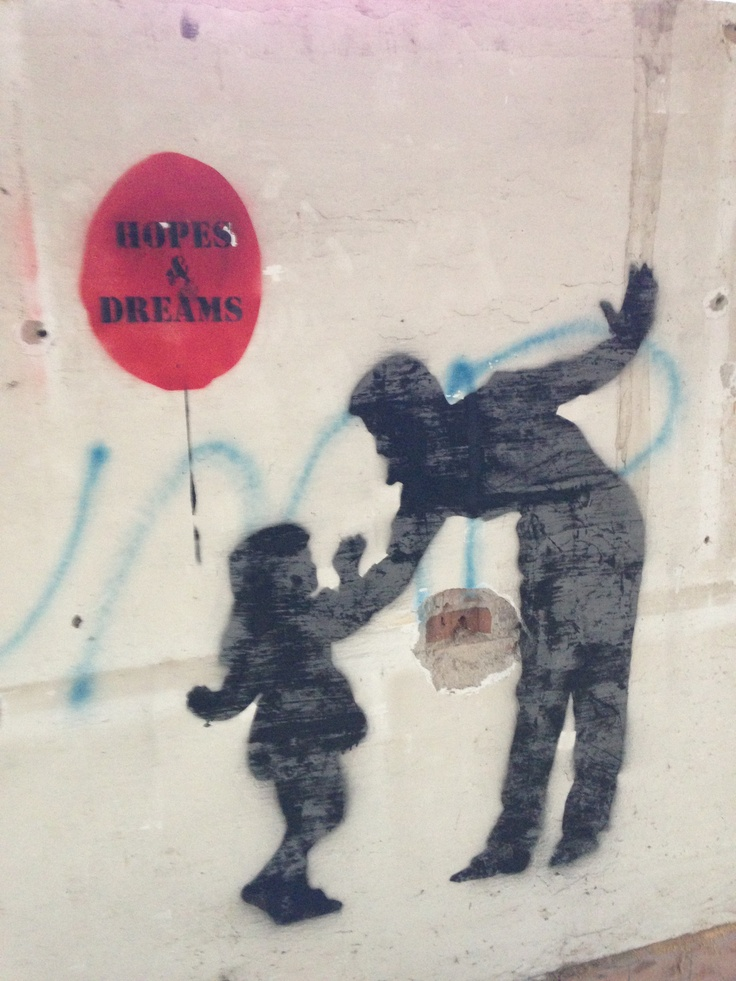 a subtle piece about how children lose a part of them selfes when beaten, metaphorical thru the red baloon