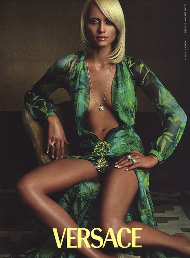 Amber Valletta for Versace Spring 2000.  Photographed by Steven Meisel.