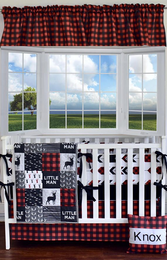This Lumberjack Nursery Bedding Is So Adorable Little Man Deer Crib Bedding Lumberjack Bedding Woodland Nursery Red Buffalo Plaid Red And Black Quilt Bu