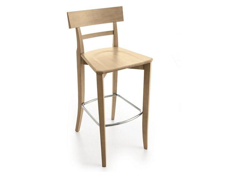 Scarica il catalogo e richiedi prezzi di Maestrale | sedia alta by Scandola Mobili, sedia alta in legno con poggiapiedi, collezione Maestrale