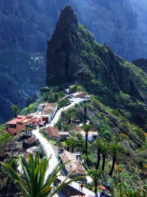 'Lost' Village of Masca, Tenerife, Canary Islands...spent a week on the Canary Islands on vacation. I want to live on vacation.
