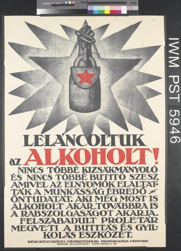 Leláncoltuk az Alkoholt! Hungary, postWWI