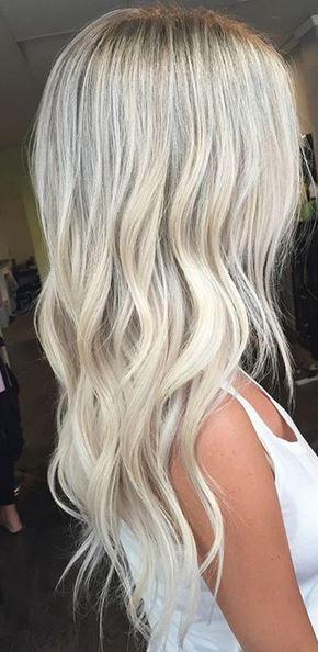 cool platinum baby blonde hair color