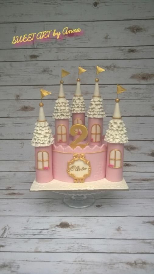 Pink+castle+cake++-+Cake+by+SWEET+ART+by+Anna+