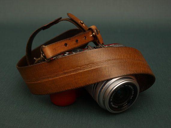 Camera strap Custom Leather Camera Strap Personalized
