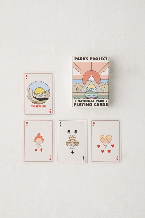 Parks Project Minimalist National Park Playing Card Deck Modern Design Playing Cards Design Graphic Design Cards Playing Cards Art