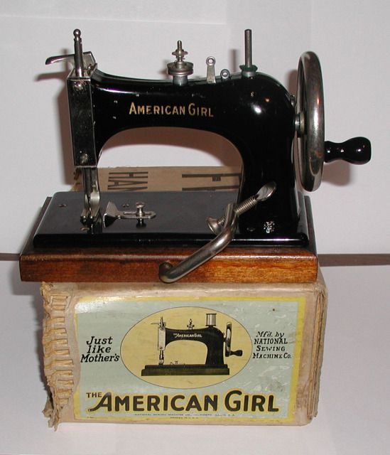 American Girl Miniature Sewing Machine, 1920's - 1930's, Manufactured by the National Sewing Machine Co.
