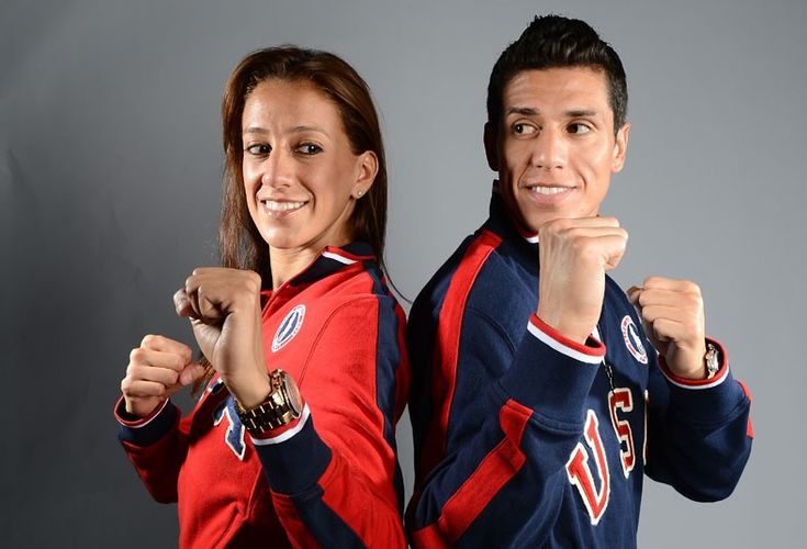 Siblings Diana  and Steven Lopez of the US Taekwondo Olympic team