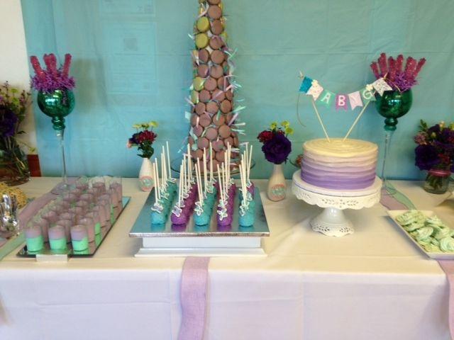 baby shower lilac aqua dessert bar aqua dessert dessert bars shower