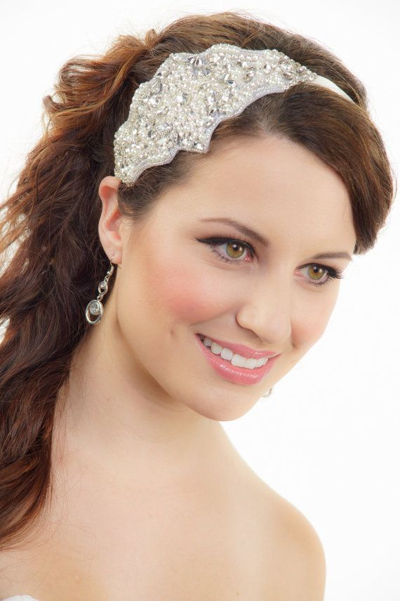 Bridal Headband, Silver headband, Gatsby Art Deco Bridal Headband, Crystal Hair piece, Wedding Headband, Tiara, Bridal Hair Accessories on Etsy, $69.99