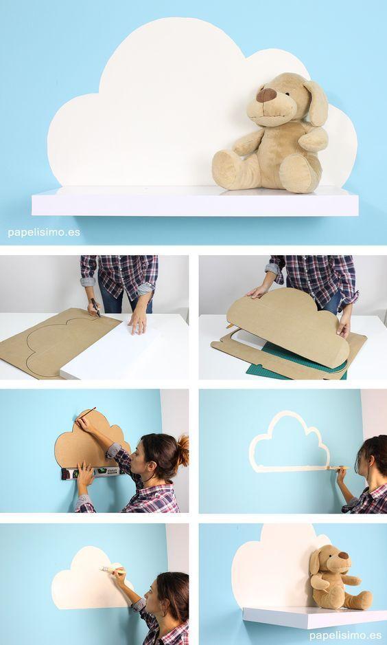 Einfaches DIY Cloud-Regal.