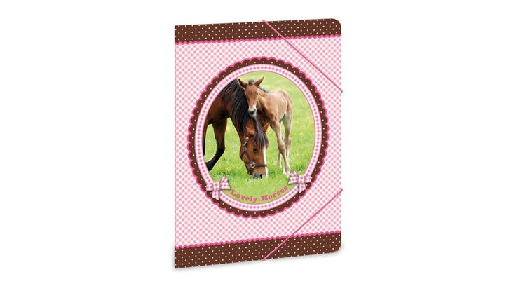My Horse Lovas gumis mappa - A5 - Iratgyűjtők, Gumis mappák, Dossziék - Nebuló Tanszeráruház. A/5 méretű gumis dosszié iratok, füzetek tárolására. 325 gr-os vastag kartonból készült dosszié lekerekített első sarkokkal, színes gumi zárópánttal. Külseje négy színnel, matt fóliával és fényes lakkal nyomott.  Méret: 170x240 mm.