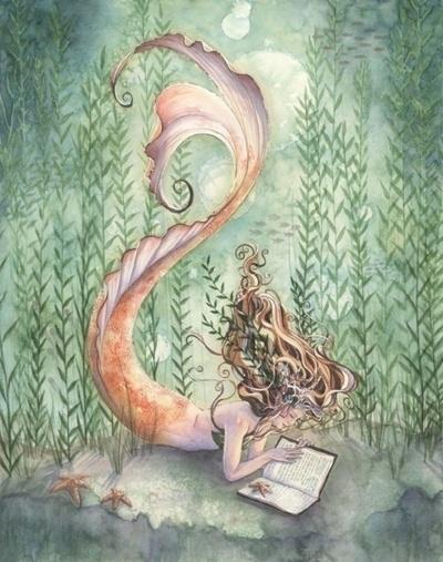even mermaids read ;)