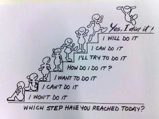 sometimes it's too big a step to get from I can't do it to I did it. smaller steps.: Babystep, Quote, Poster, Daily Motivation, Selfesteem, Step By Step, Yes I Can, Baby Step, Kid