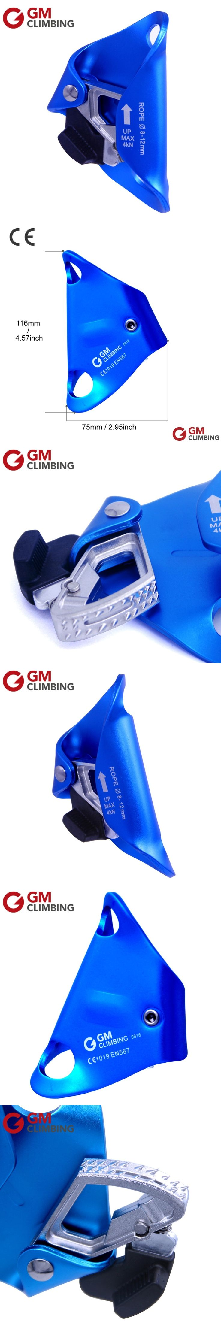 Chest Ascender Climbing Rope Ascender Aluminum Alloy Rappelling Rock Climbing Equipment Mountaineering Caving Arborist Ascent CE