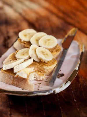 Banaan + pindakaas; gezond en vullend!