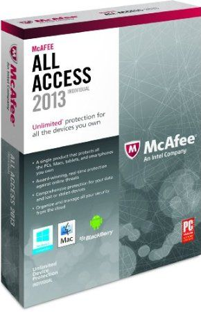 McAfee rises to the challenge by enabling you to safely surf, shop, network, and interact online with award-winning McAfee All Access. Today, most security products only protect a particular type of computer or device, which means you end up spending precious time and money on products that only partially address your needs. McAfee All Access is a single solution that provides comprehensive protection for your PC, Macs, smartphones, and tablets.  Price: $82.79
