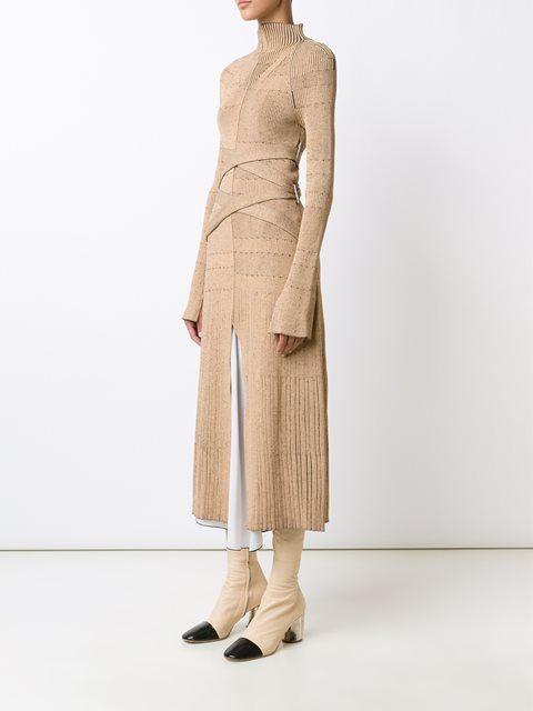 Proenza Schouler бандажное платье с высоким горлом