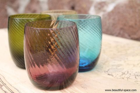 Kitchen - Spiral Rib Glass Tumblers – Beautiful Space Interior Design