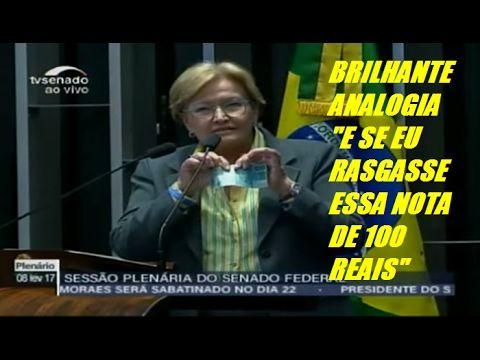 """Ana Amélia BRILHANTE ANALOGIA""""E SE EU RASGASSE ESSA NOTA DE 100 REAIS"""" E..."""