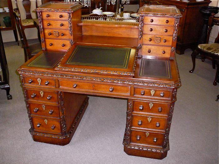 English Victorian Oak Pedestal Desk located in Moonee Ponds, Melbourne - 64 Best Victorian Furniture Images On Pinterest Victorian