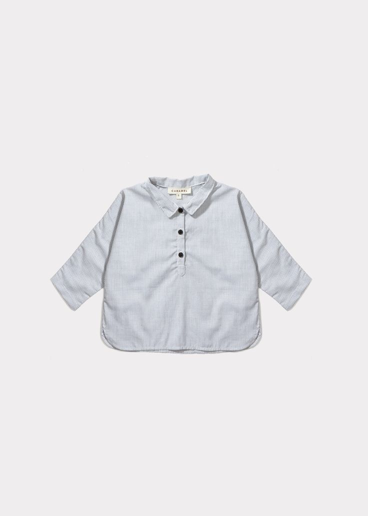 Corn Baby Shirt, Micro Check