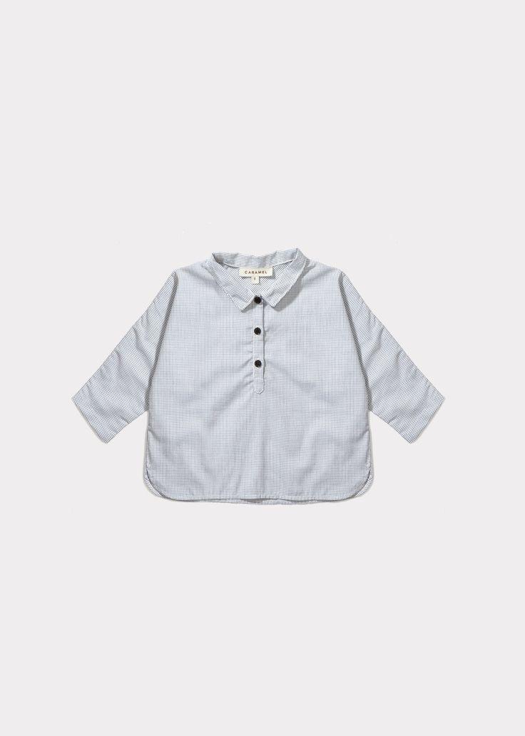 Corn Baby Shirt, Micro Check