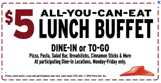Pizza hut lunch buffet coupons printable