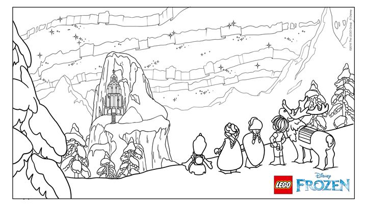 Frozen Northern Lights The Ice Castle Coloring Pages Lego Coloring Sheet Christmas Lights Wallpaper