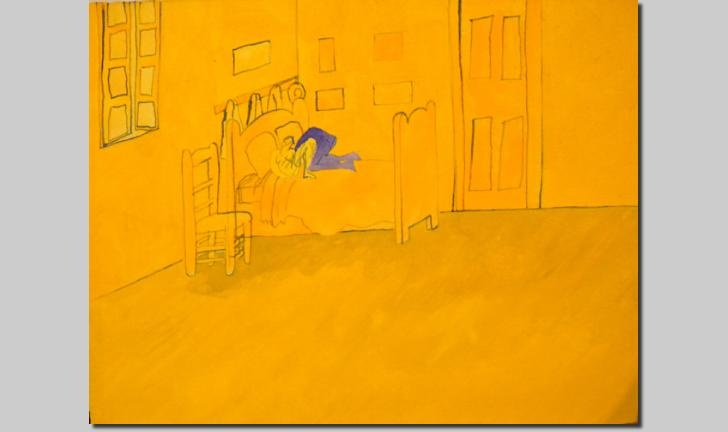 Dave Pearson - Gouache: The Yellow Room
