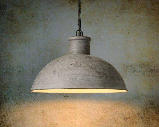 Lucide Feysa - Hanglamp - Ø50cm - Gemeleerd grijs