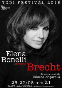 Todi Festival: Elena Bonelli interpeta Bertolt Brecht