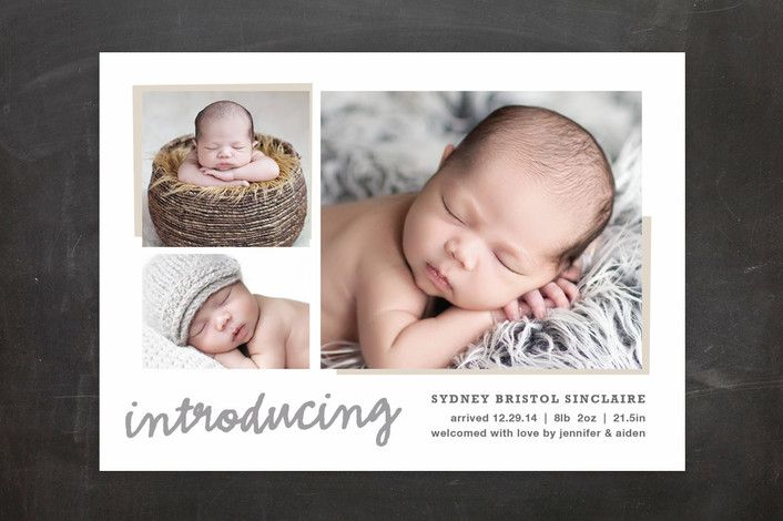 All The Details Birth Announcements by Carolyn MacLaren at minted.com