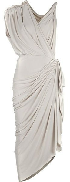LANVIN Grecian Dress this dress matches the cake with ruching and pleats. Smashing. #hellas