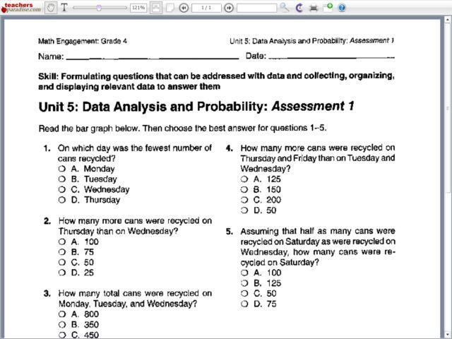 38 Math Worksheets Grade 8 Probability