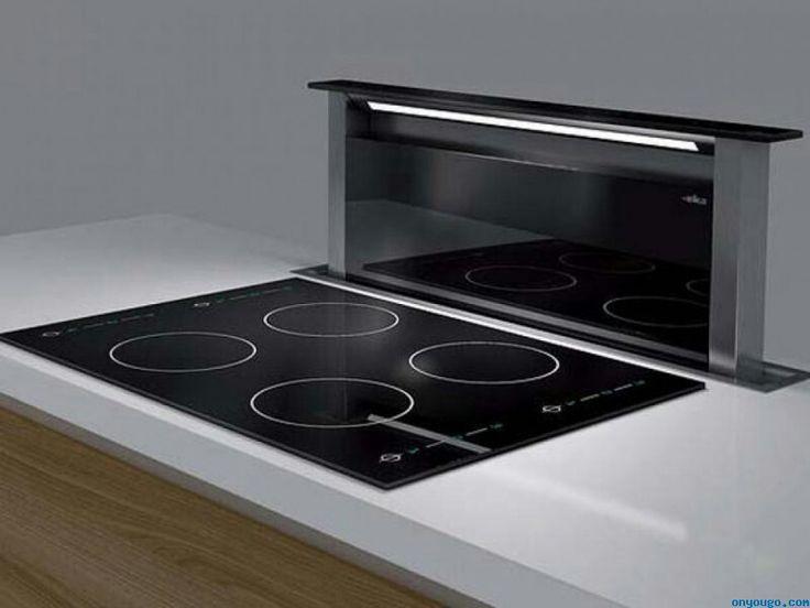 Adagio #Elica http://www.alsako.com/campanas-extractoras-de-cocina/4285-campana-decorativa-integrada-a-mueble-encimera-vidrio-negro-y-acero-inox-pantalla-tactil-3vi-ilum-neon-elica-adagio-bl-f-90.html