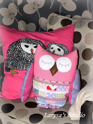 Larysa's Studio: Еще одна Сплюшка, сова-подушка