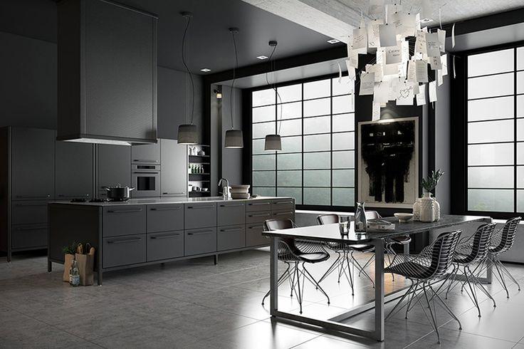 Dat je niet denkt dat iedereen tegenwoordig maar alles wit witter witst wil! Van die prachtige donkere, bijna sombere, keukens zijn er gelukkig ook nog.