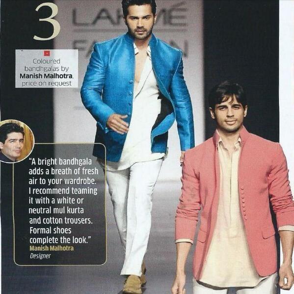 Manish Malhotra, mens wear