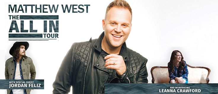 The All In Tour with Matthew West & Jordan Feliz will be making their way to Naperville, Illinois November 3rd! Get your tickets today at iTickets!