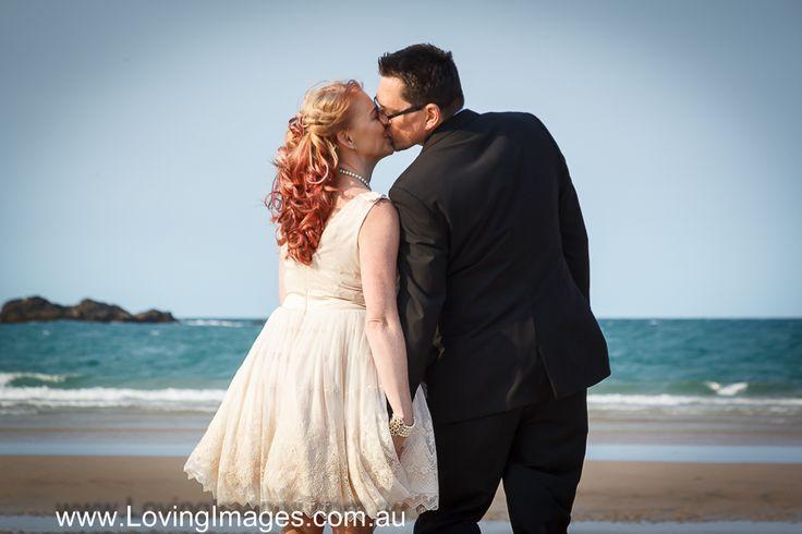 "Romantic moment at ""Diggers Beach"" NSW Australia. http://www.LovingImages.com.au/eloping.html"
