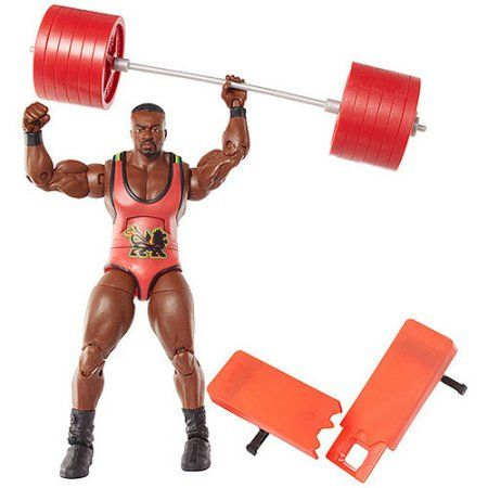 Big E Langston Action Figure Weights & Weight Bench Elite Series 26, Multicolor