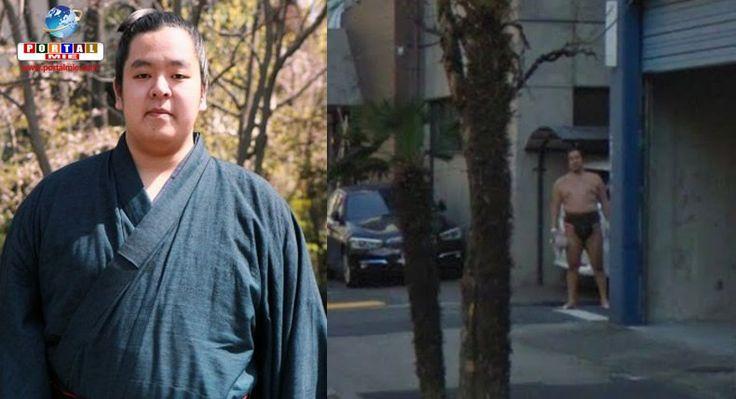 Lutador de sumô foi destaque no Twitter após correr para sair nas imagens do Google Maps.