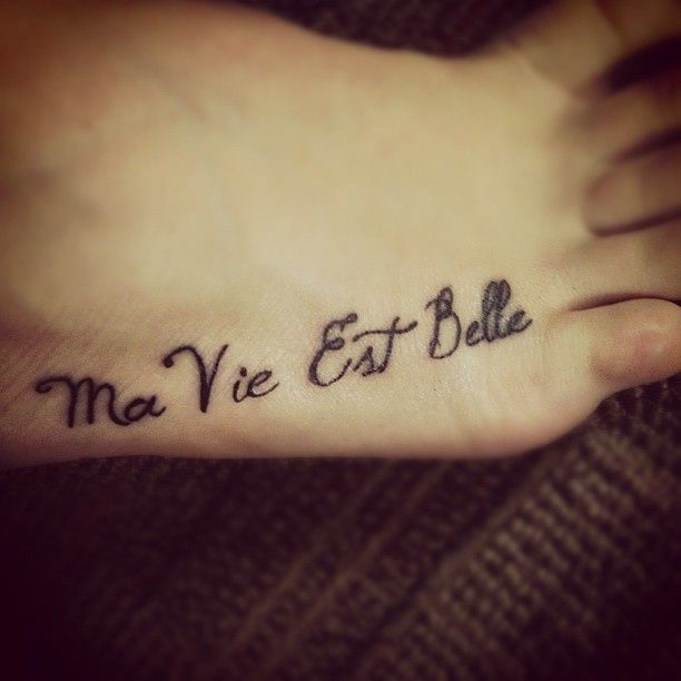 13 best my style images on pinterest black star tattoo for French quote tattoos