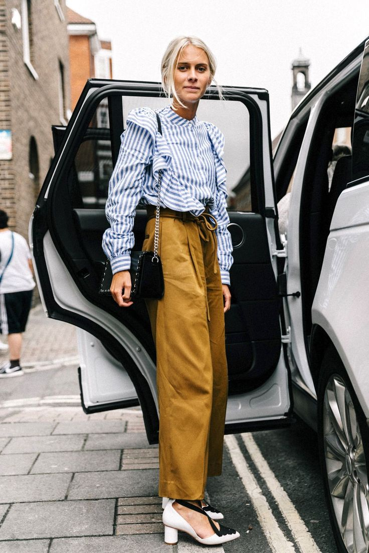 A Fashion-Forward Take On the Ruffled Top Trend via @WhoWhatWear