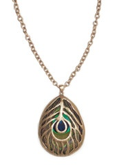 Captured Peacock Necklace