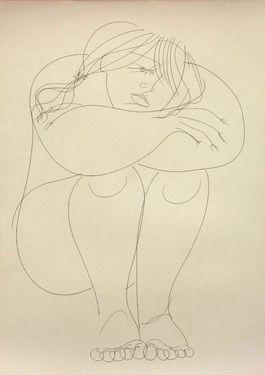 "Saatchi Art Artist Franco Fusari; Drawing, ""Annamaria #S177"" #art"