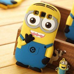 Stylish The Minion with Two Eyes Style Despicable Me 2 Silicone Back Case Cover for SAMSUNG GALAXY S III S3 i9300 - Cartoon Samsung Galaxy S...