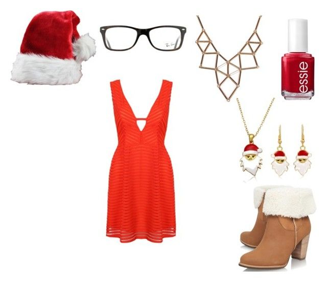 """""""CHRISTMAS!!!!!!"""" by charomg on Polyvore featuring Ray-Ban, UGG Australia, Essie and Chicnova Fashion"""