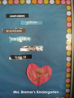 kindness from Max Lucado's You are Special via Mrs. Bremer's Kindergarten: beginning of school year